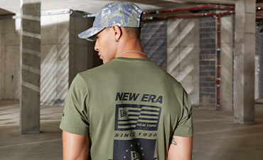 T-shirt New Era imprimé couleur olive