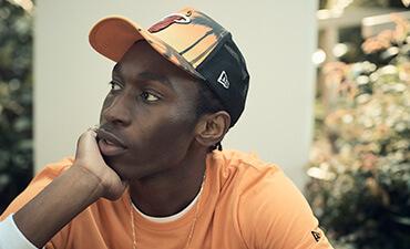 Trucker con stampa in colori sfumati New Era NBA dei Miami Heat nero