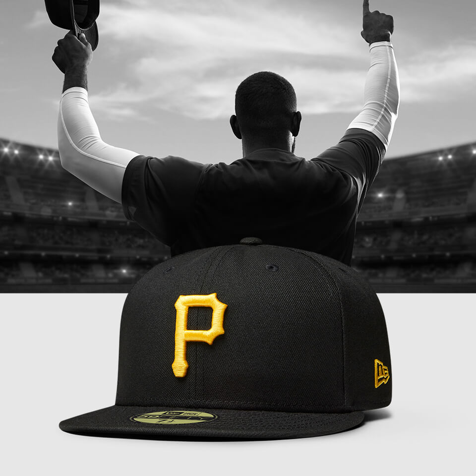 New Era – 59FIFTY Fitted – Pittsburgh Pirates – Passgenaue Kappe in Schwarz