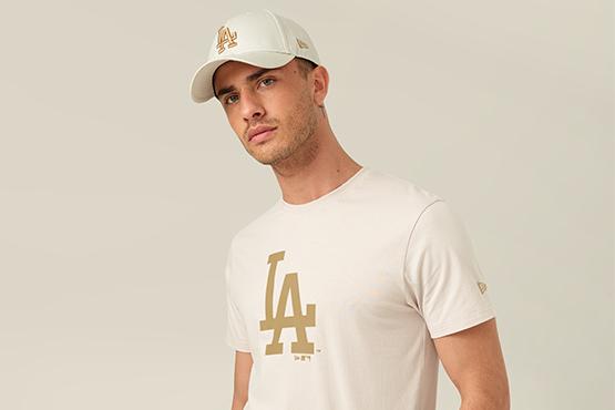 T-shirt grège LA Dodgers et casquette 9FORTY