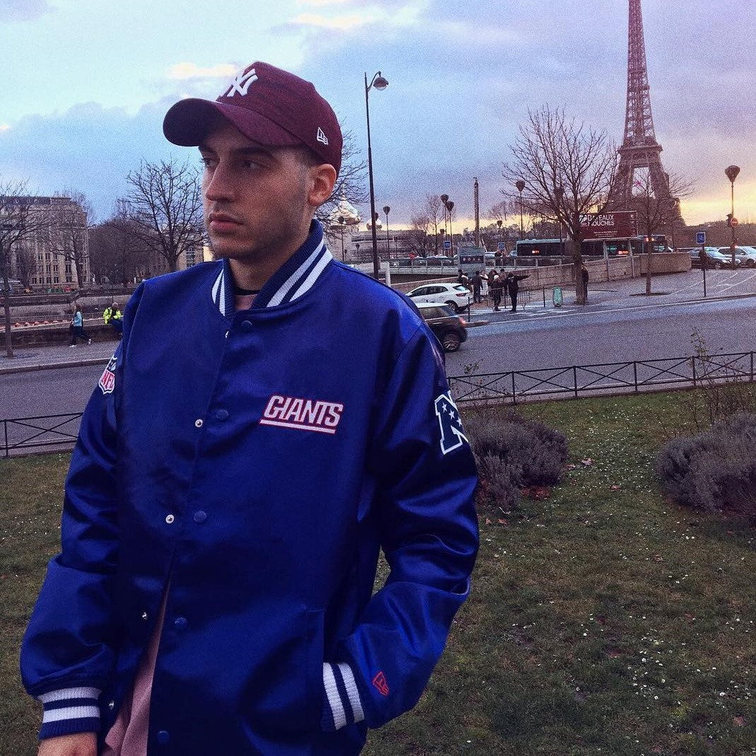 New York Red 9forty with Giants jacket