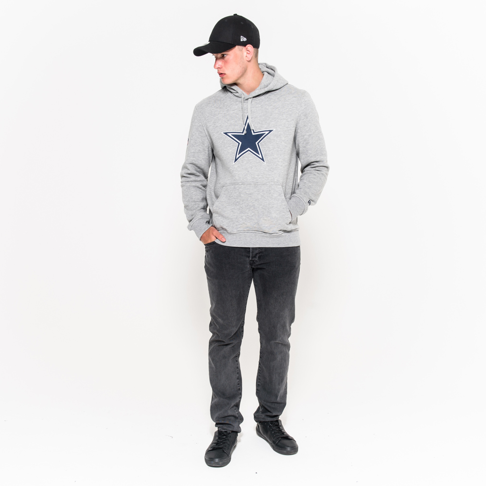 Sudadera Dallas Cowboys Pullover Team Logo, gris
