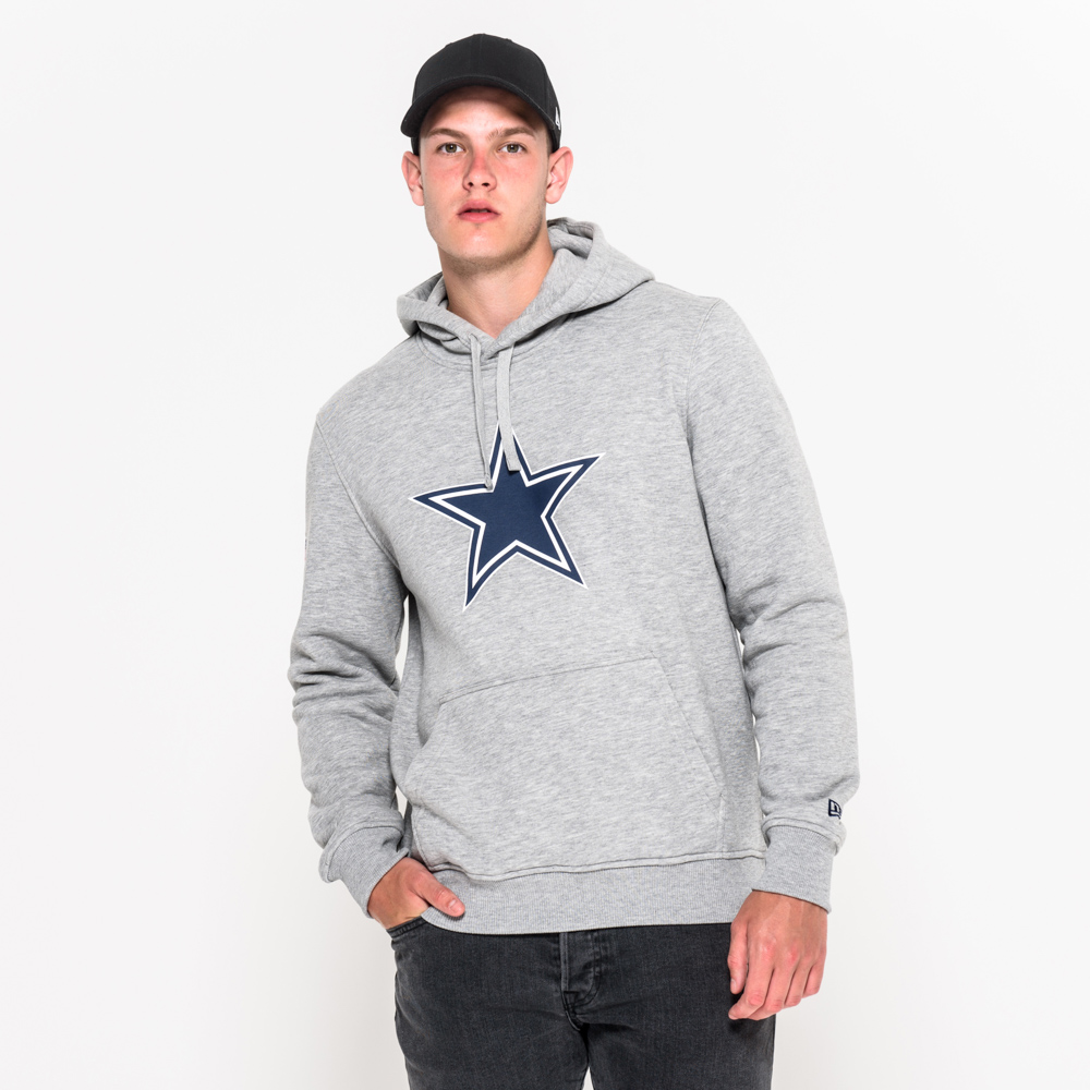 Dallas Cowboys Pullover Team Logo Grey Hoodie