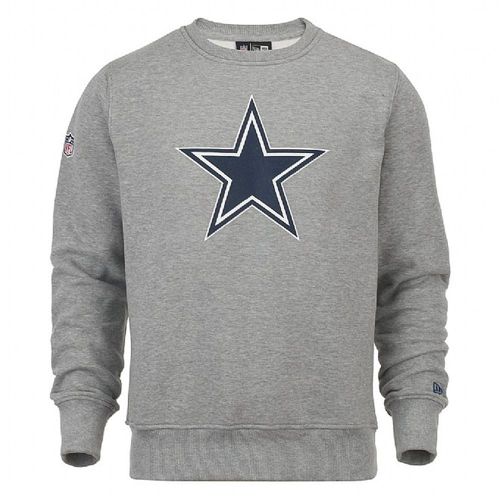 2d6f5f794 Dallas Cowboys Team Logo Grey Crew Neck