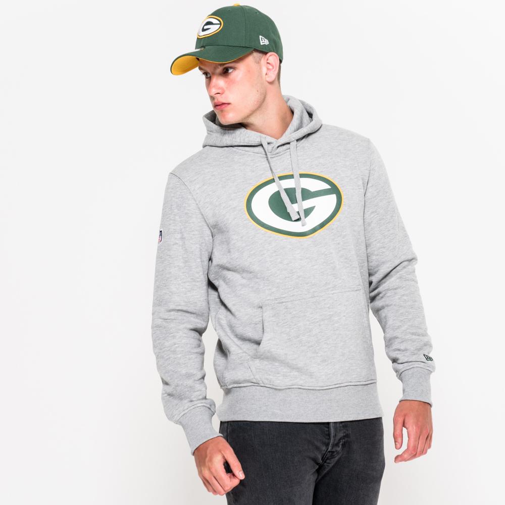 Felpa con cappuccio Team Logo Green Bay Packers grigia
