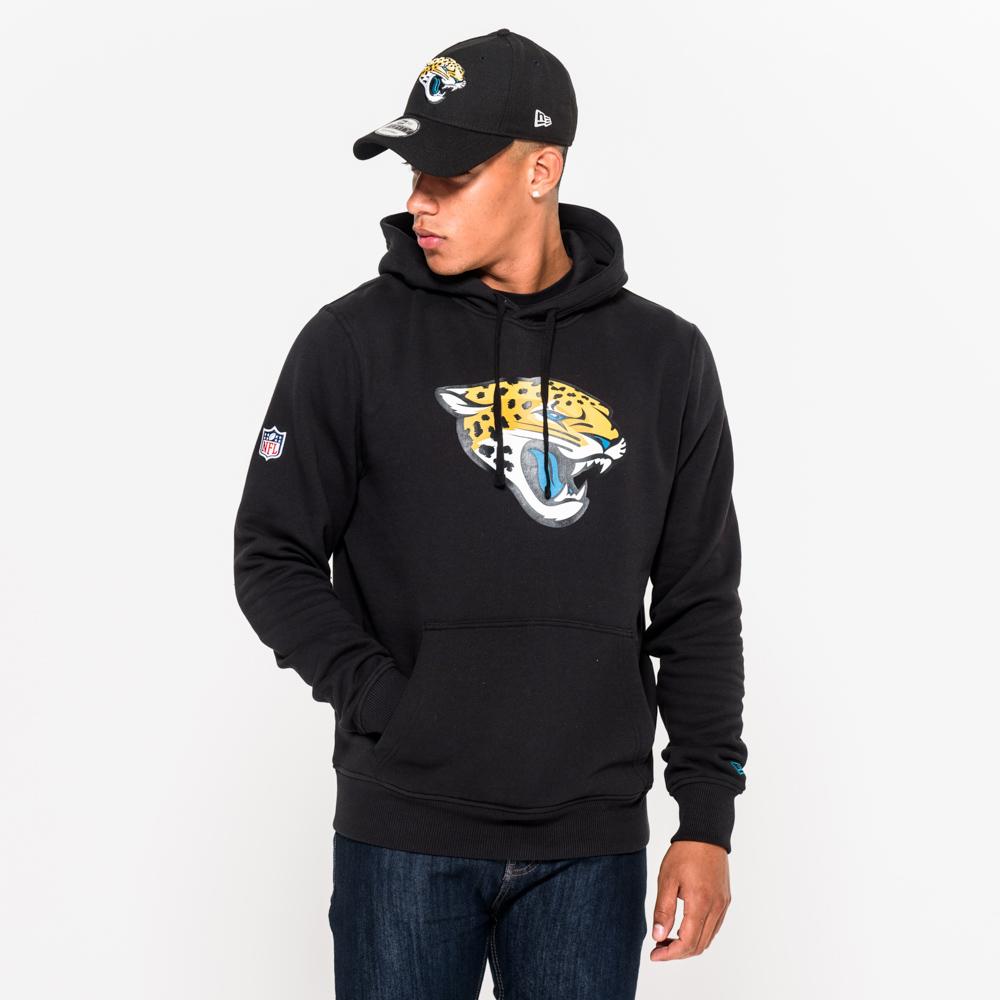 Felpa con cappuccio Team Logo dei Jacksonville Jaguars nera