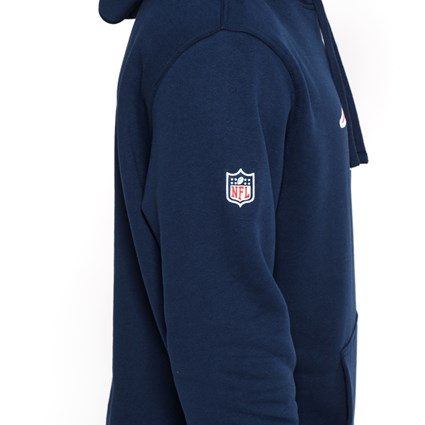 New England Patriots Pullover Team Logo Blue Hoodie
