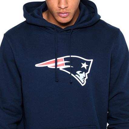 new styles d7f48 f2886 New England Patriots Pullover Team Logo Blue Hoodie | New Era