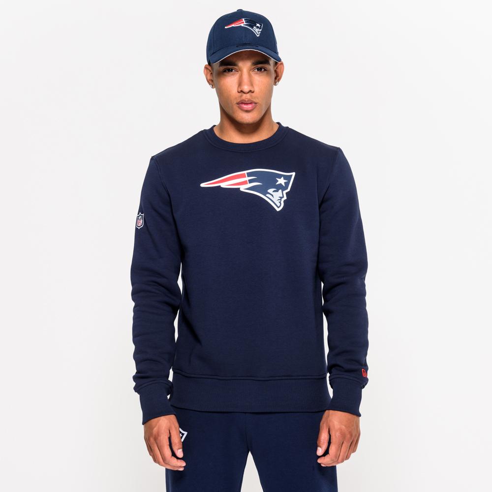 Sweat ras du cou New England Patriots bleu avec logo de l'équipe