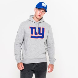 NY Giants Pullover Team Logo Grey Hoodie