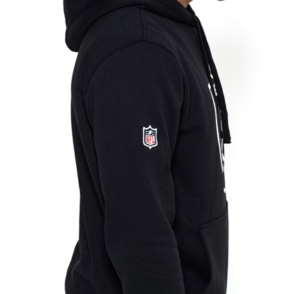 timeless design d64a2 5aa37 Oakland Raiders Pullover Team Logo Black Hoodie | New Era