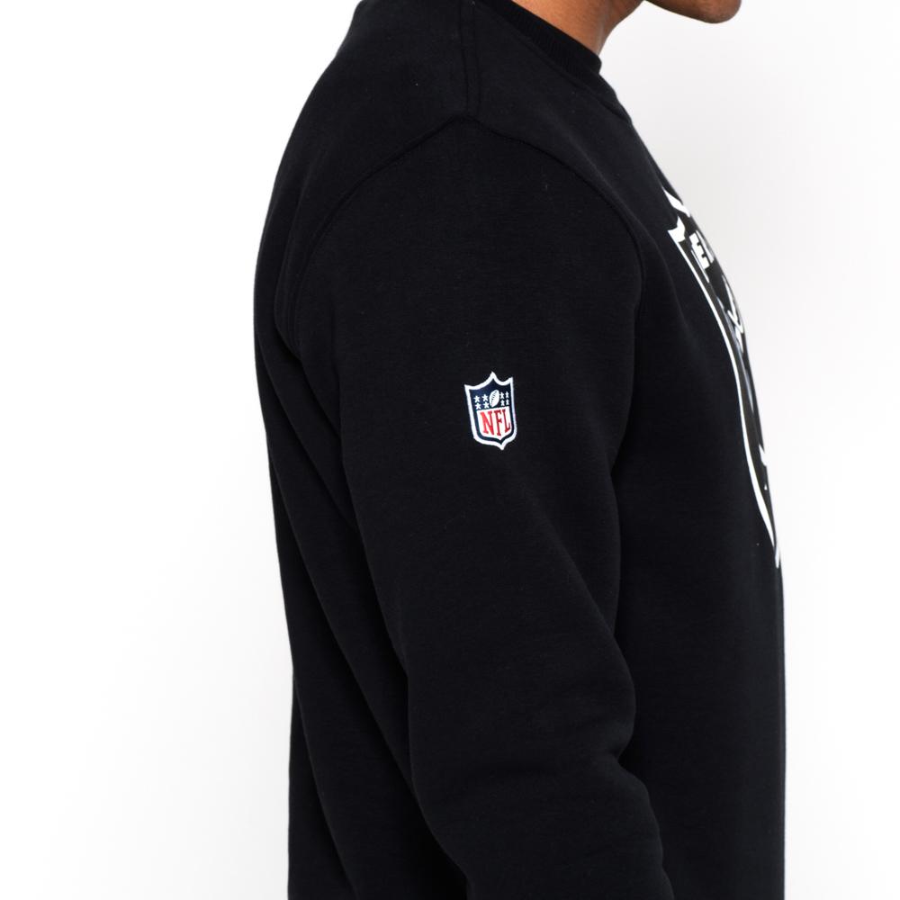 Oakland Raiders – Rundhalsshirt mit Teamlogo – Schwarz