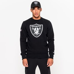 Cuello redondo Oakland Raiders Team Logo, negro