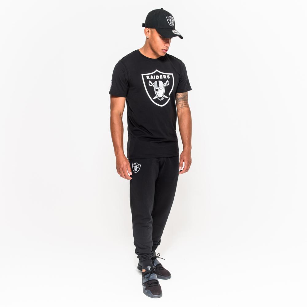 Oakland Raiders – T-Shirt mit Teamlogo – Schwarz