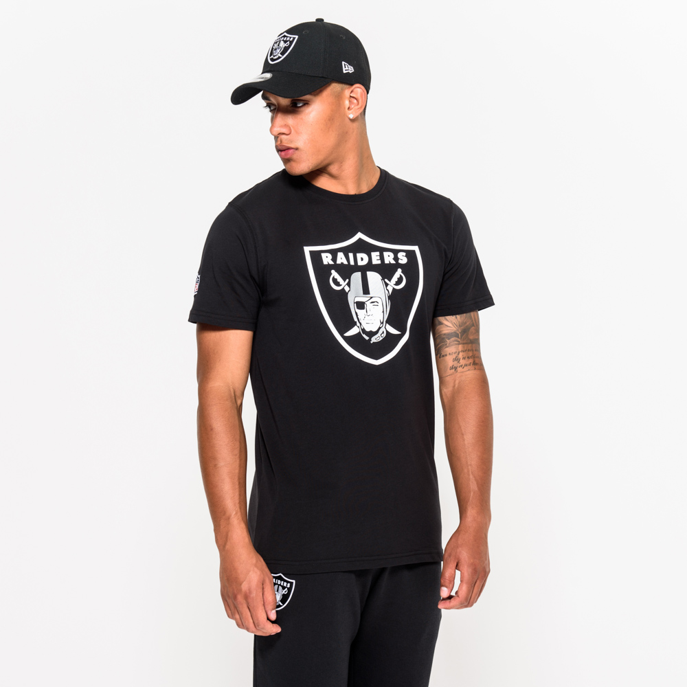 Camiseta Oakland Raiders Team Logo, negro
