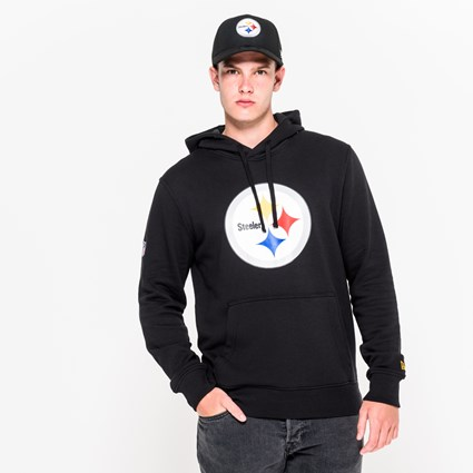 new concept ee9dc 8bdc2 Pittsburgh Steelers Team Logo Pullover Hoodie | New Era