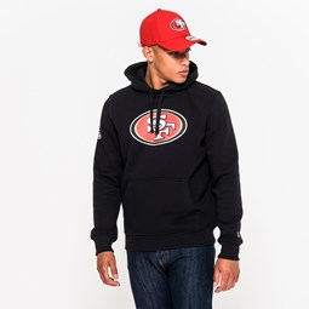 Sudadera estilo pulóver San Francisco 49ers Team Logo, negro