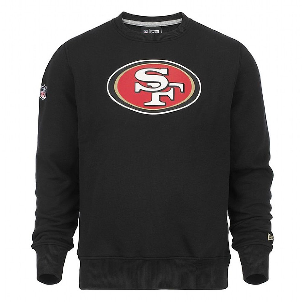 35bd22982 San Francisco 49ers Team Logo Black Crew Neck