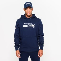 Seattle Seahawks Pullover Team Logo Blue Hoodie