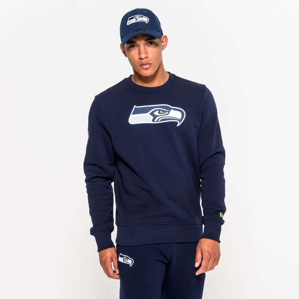 eaae56b09e7 Seattle Seahawks Team Logo Blue Crew Neck
