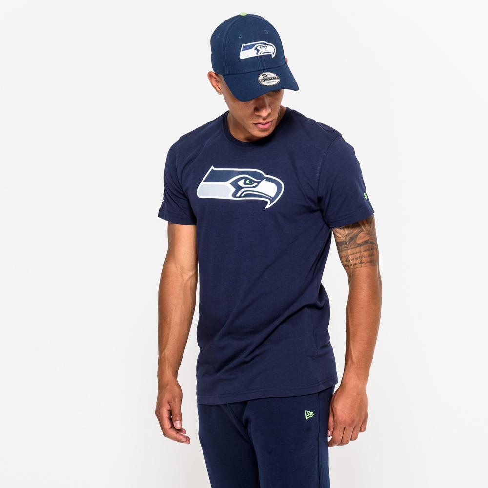 Seattle Seahawks – T-Shirt mit Team Logo – Blau