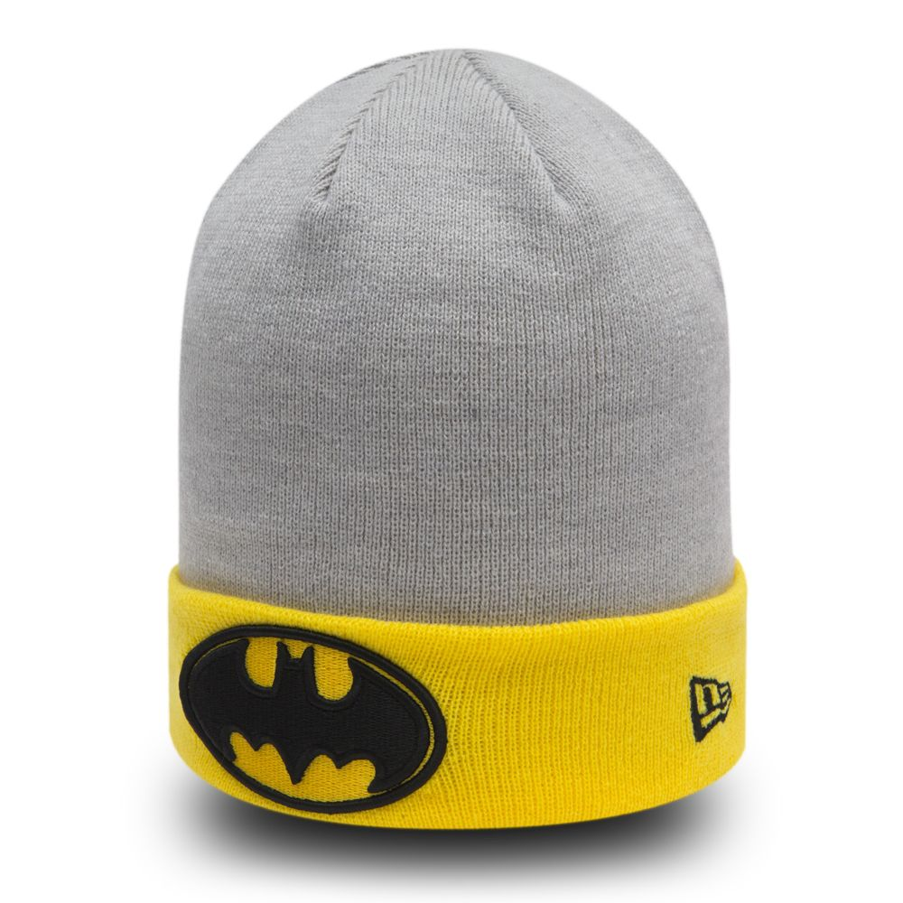 Gorro de punto con vuelta Batman Character Heather Crown