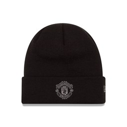 Manchester United Black on Black Cuff Knit
