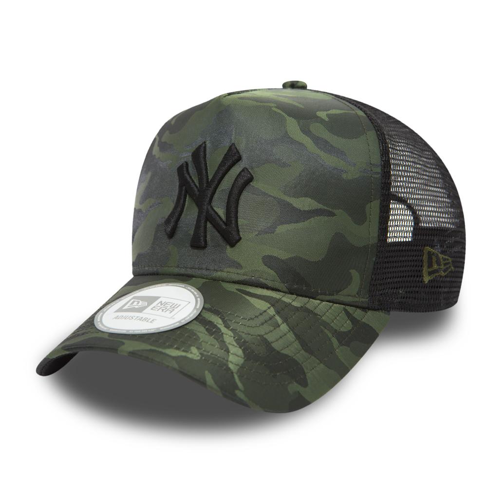 NY Yankees Nylon Camo A Frame Trucker  8ae36b1f88e