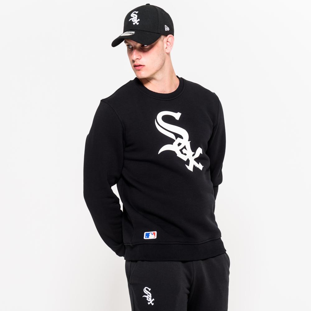 Sweat ras du cou Chicago White Sox noir avec logo de l'équipe