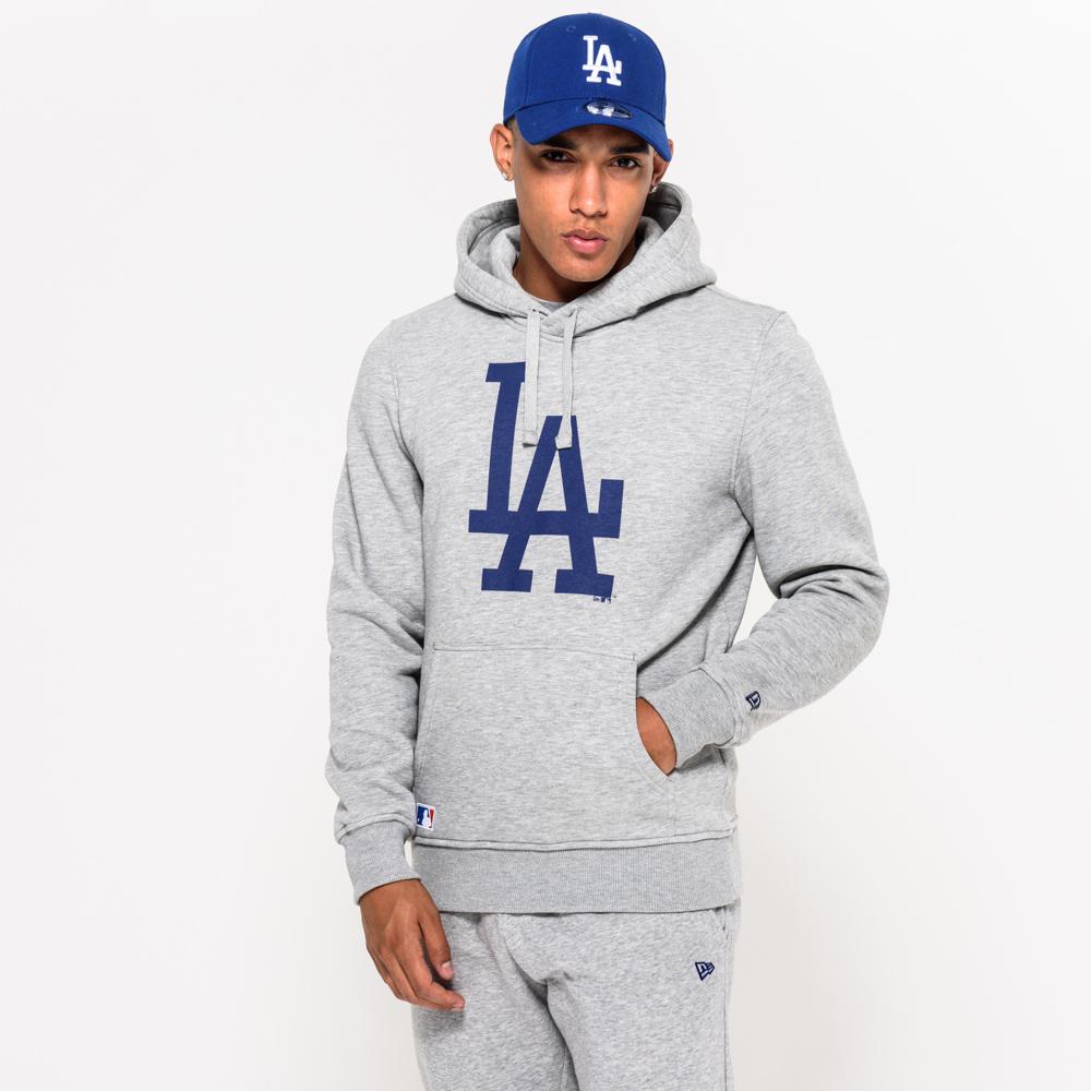 Felpa chiusa con cappuccio grigia dei LA Dodgers