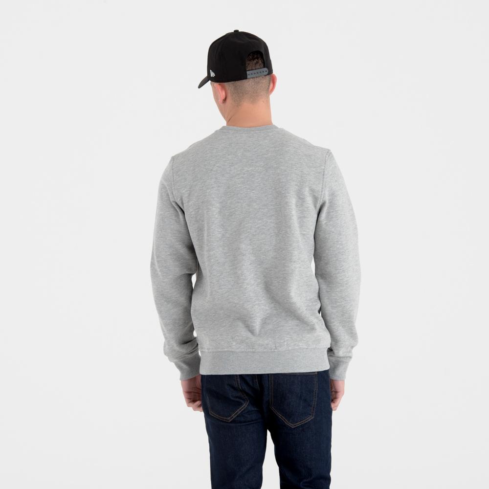 Sweatshirt in Grau mit MLB-Logo und Rundhalsausschnitt