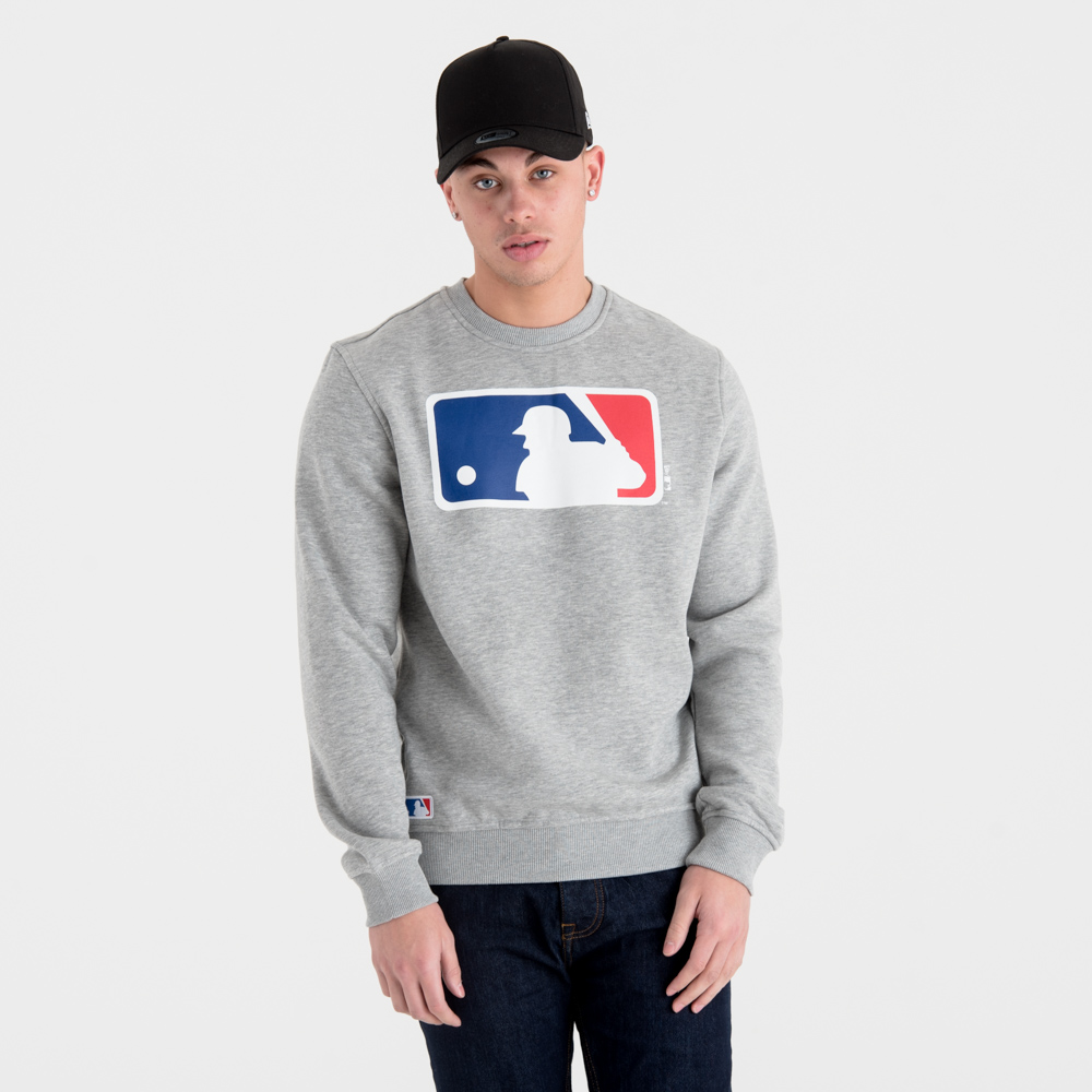 Sweat ras du cou logo MLB gris