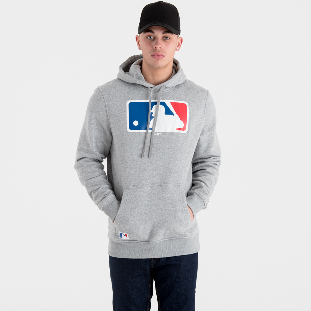 Sweat à capuche logo MLB gris