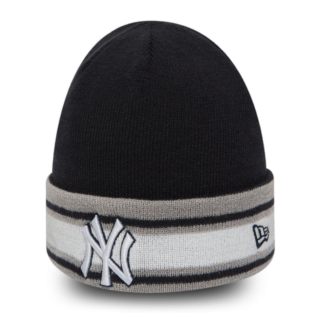 Berretto di maglia con risvolto NY Yankees Block Team bambino 9e27ecc222f3