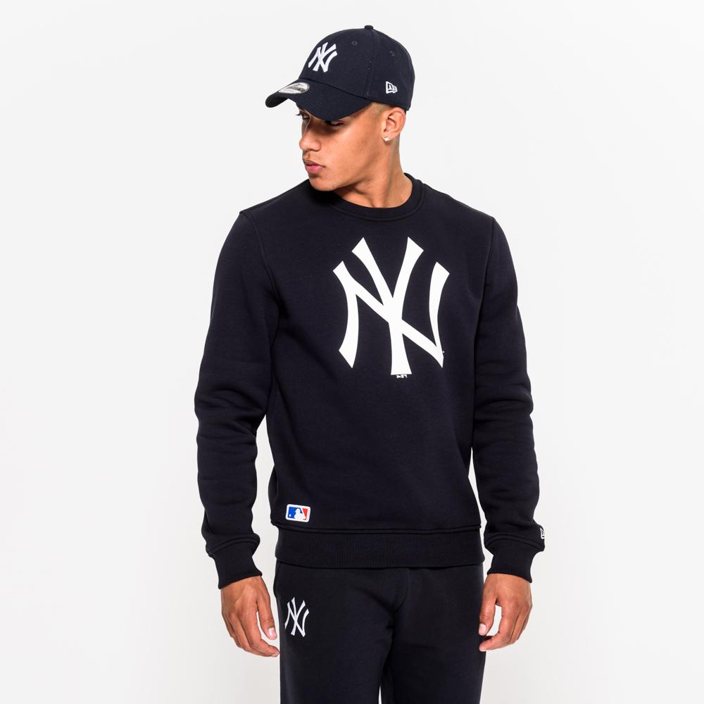 NY Yankees – Marineblauer Pullover mit Rundhalsausschnitt