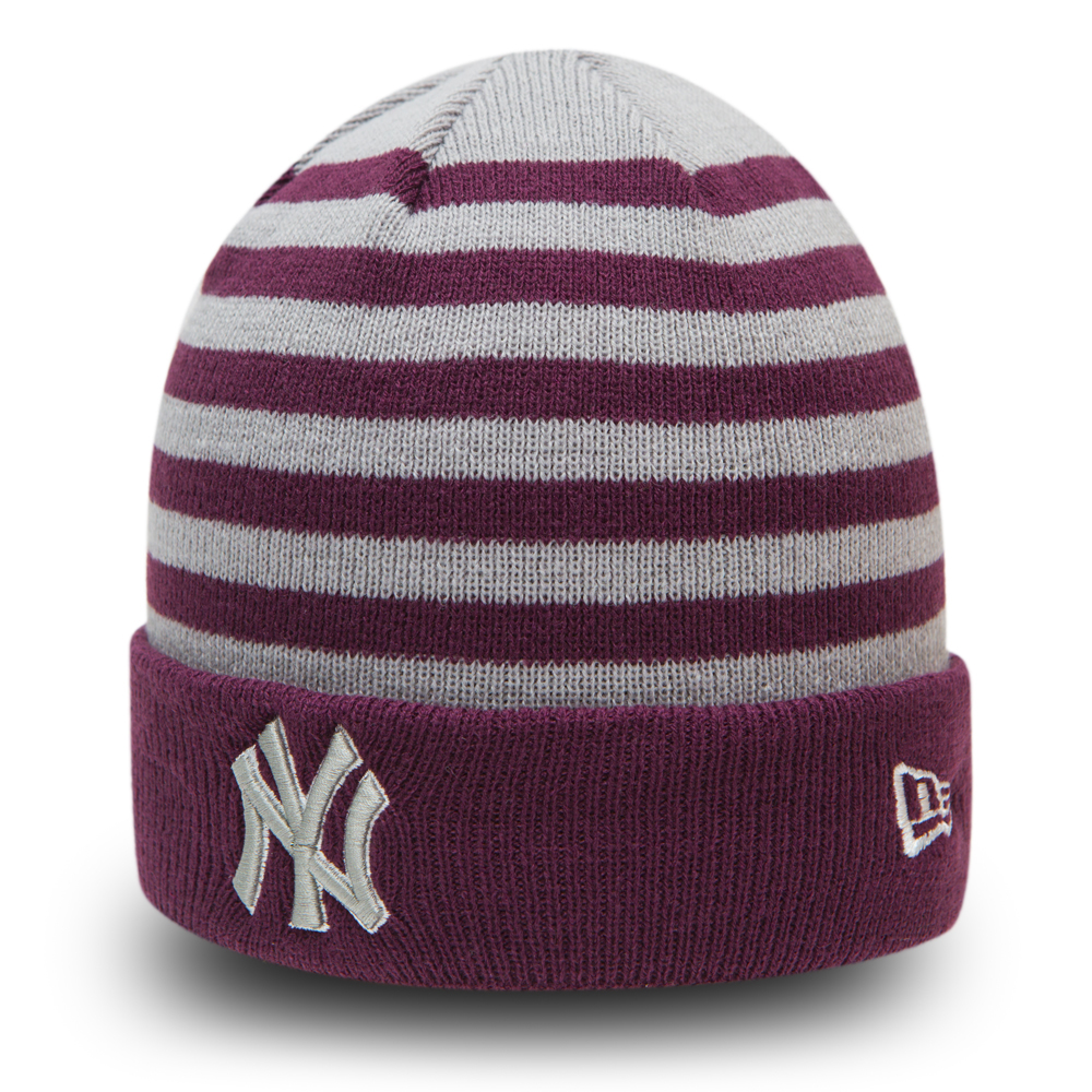 NY Yankees Striped Cuff Kids Knit