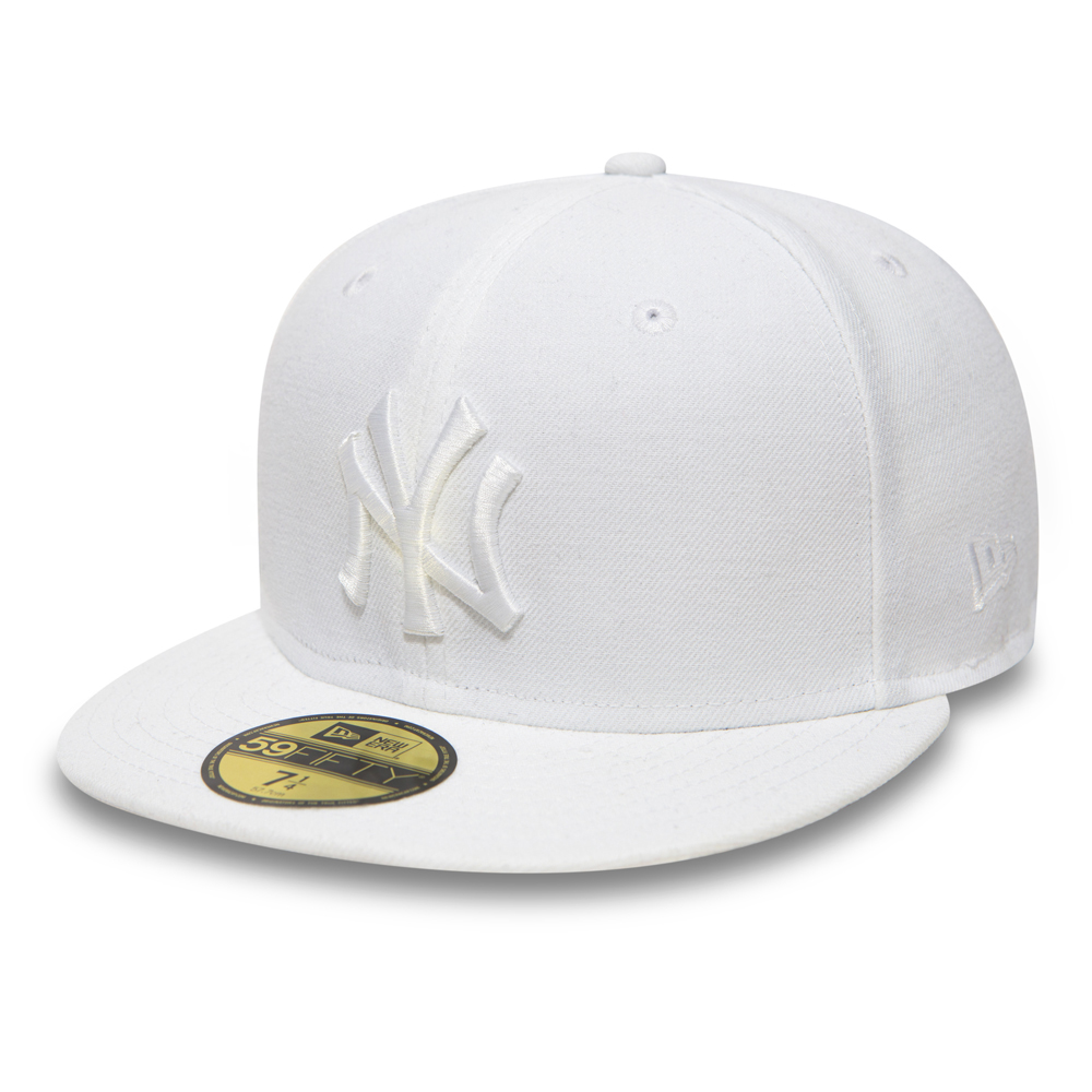 59FIFTY – NY Yankees White On White