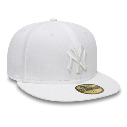 NY Yankees White On White 59FIFTY