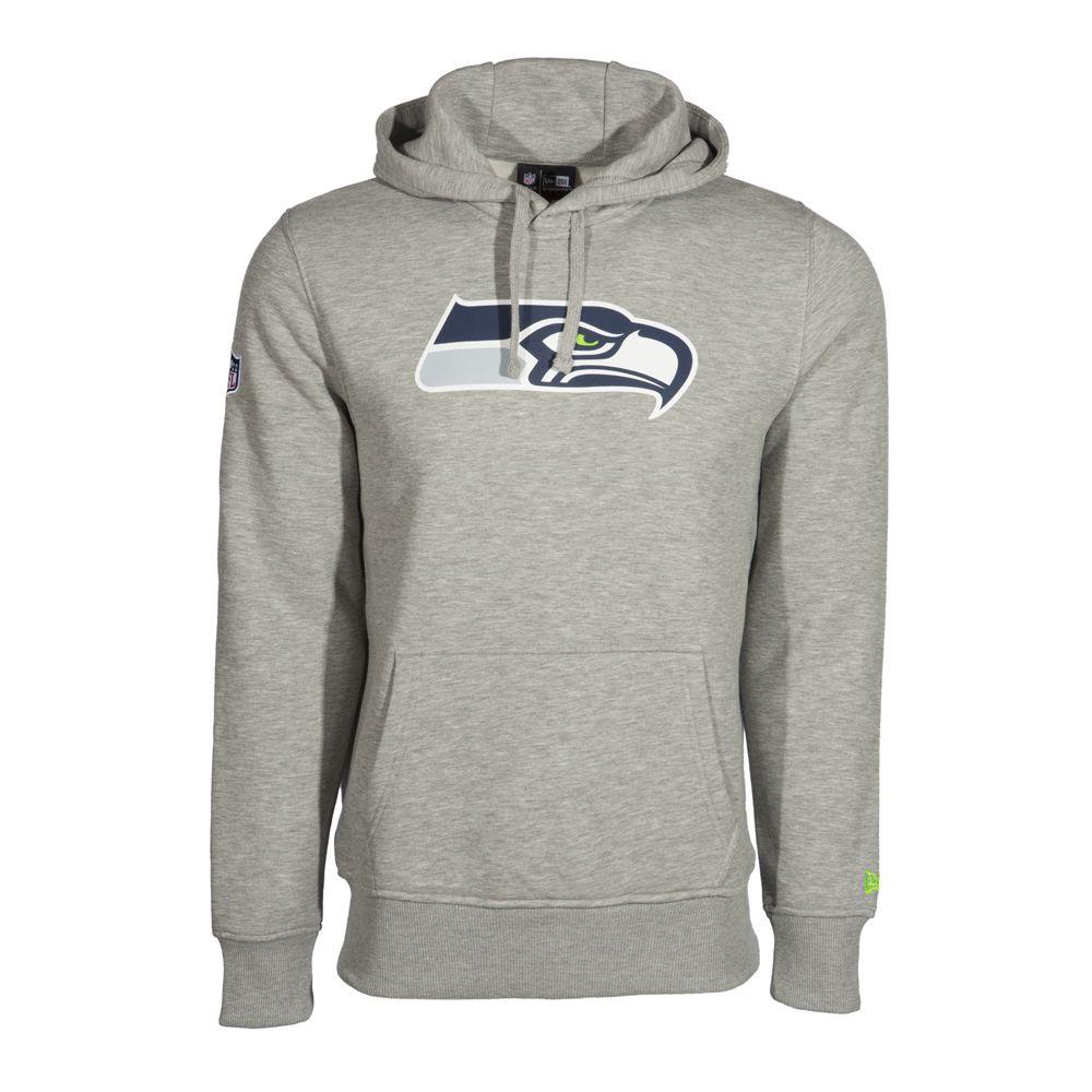 seattle seahawks pullover team logo hoodie new era. Black Bedroom Furniture Sets. Home Design Ideas