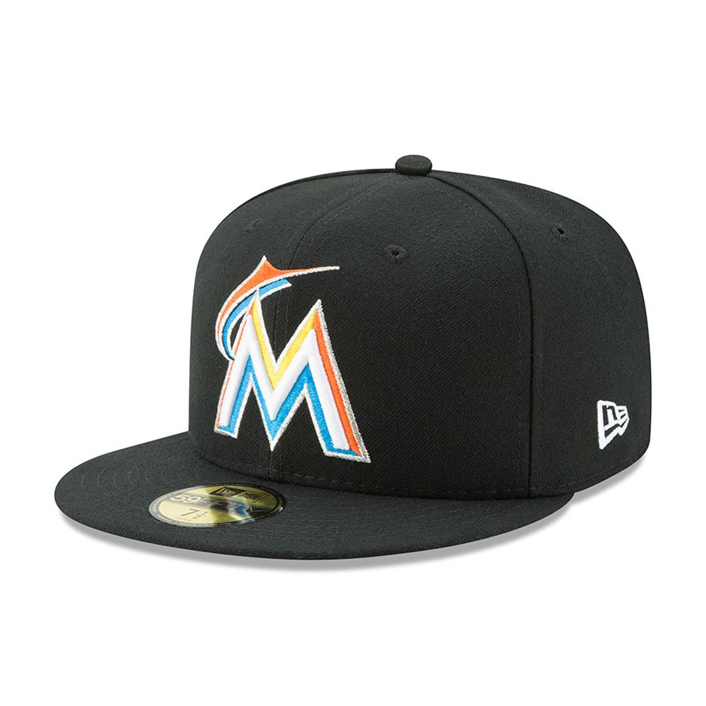 Miami Marlins Authentic On-Field Home Black 59FIFTY