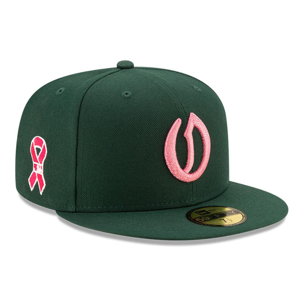Cappellino 59FIFTY On Field Festa della mamma Oakland Athletics verde