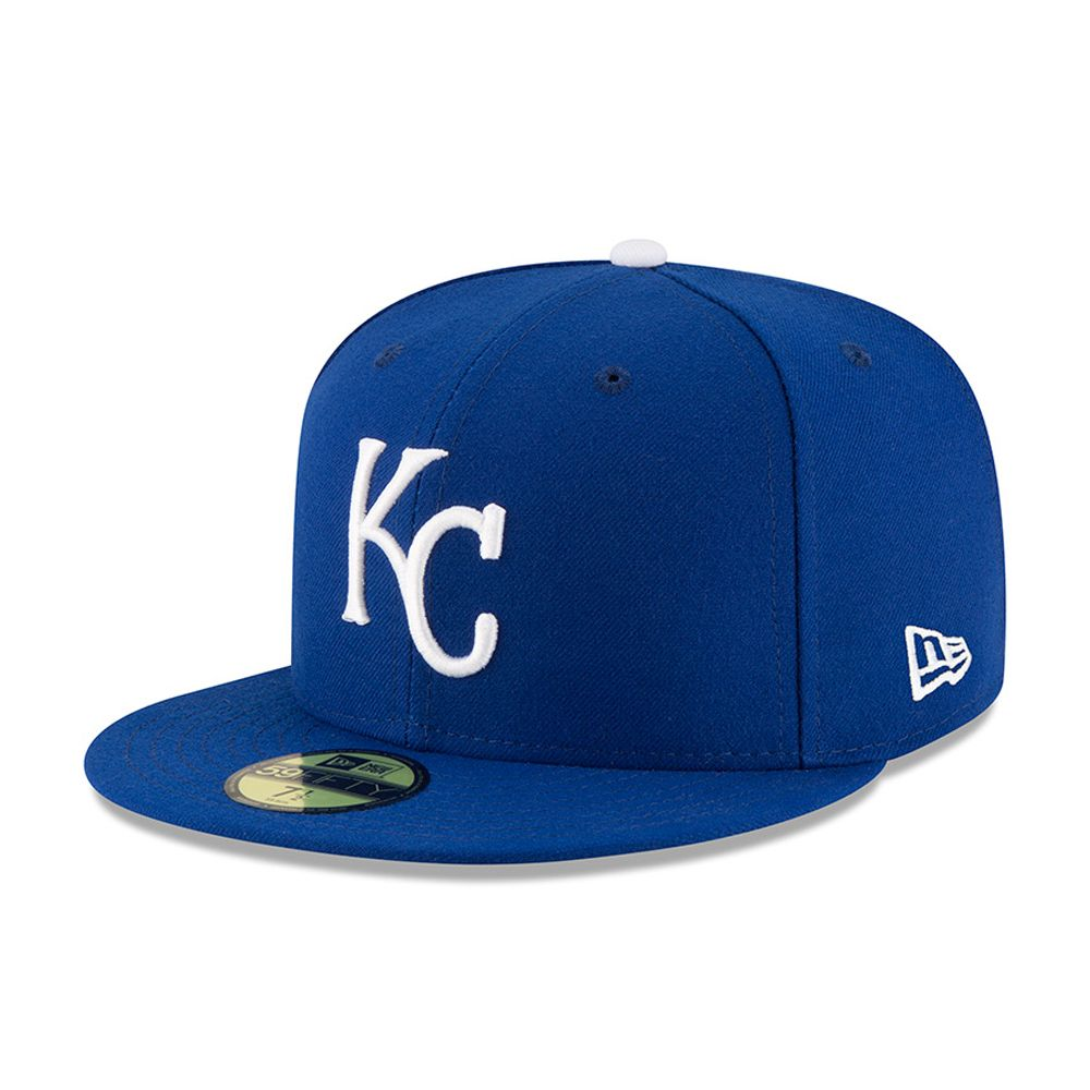 Kansas City Royals Authentic On-Field Game 59FIFTY bleu