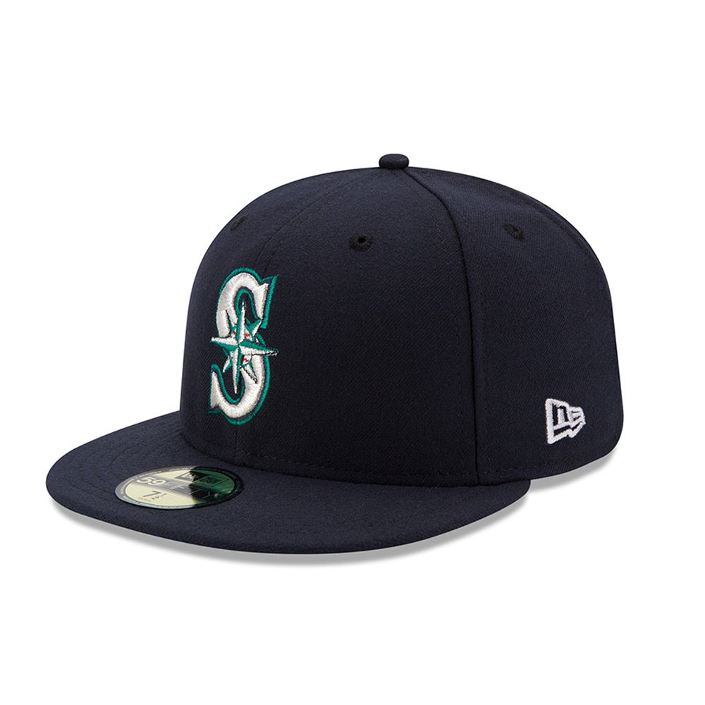 Seattle Mariners Authentic On-Field Game 59FIFTY bleu marine