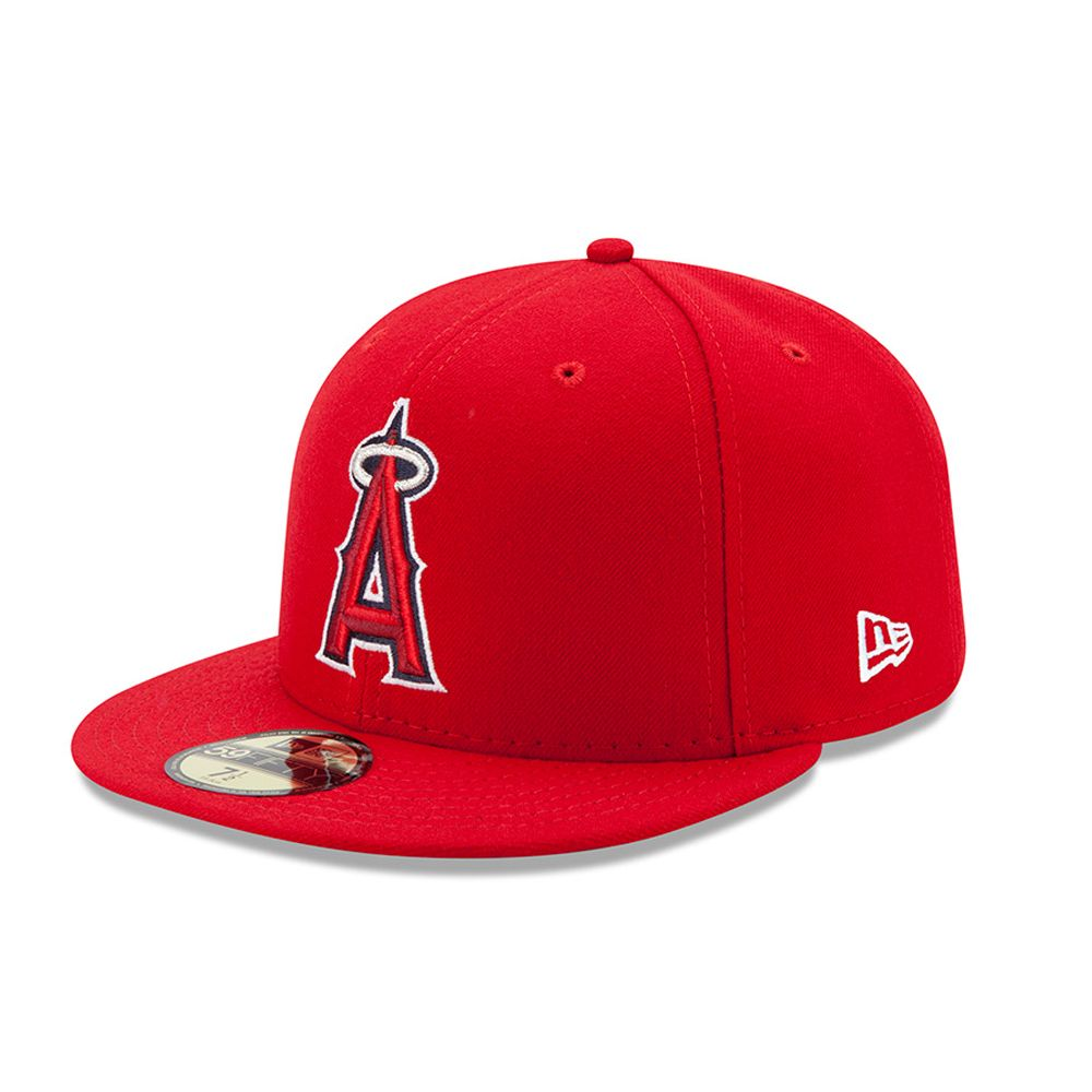 Anaheim Angels Authentic On-Field Game Red 59FIFTY