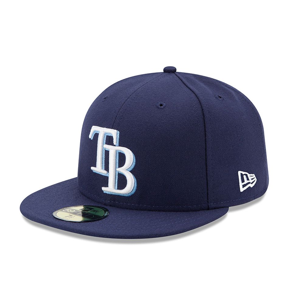 Tampa Bay Rays Authentic On-Field Game 59FIFTY bleu marine