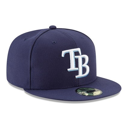 Tampa Bay Rays Authentic On-Field Game Navy 59FIFTY