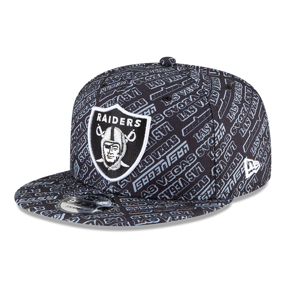 Gorra Las Vegas Raiders All Over Print 9FIFTY, negro