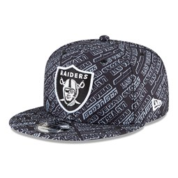 Las Vegas Raiders All Over Print Black 9FIFTY Cap