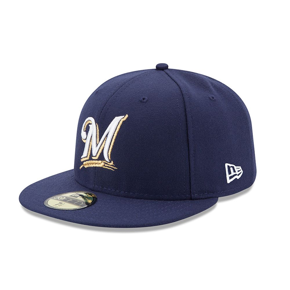 Milwaukee Brewers Authentic On-Field Game 59FIFTY bleu marine