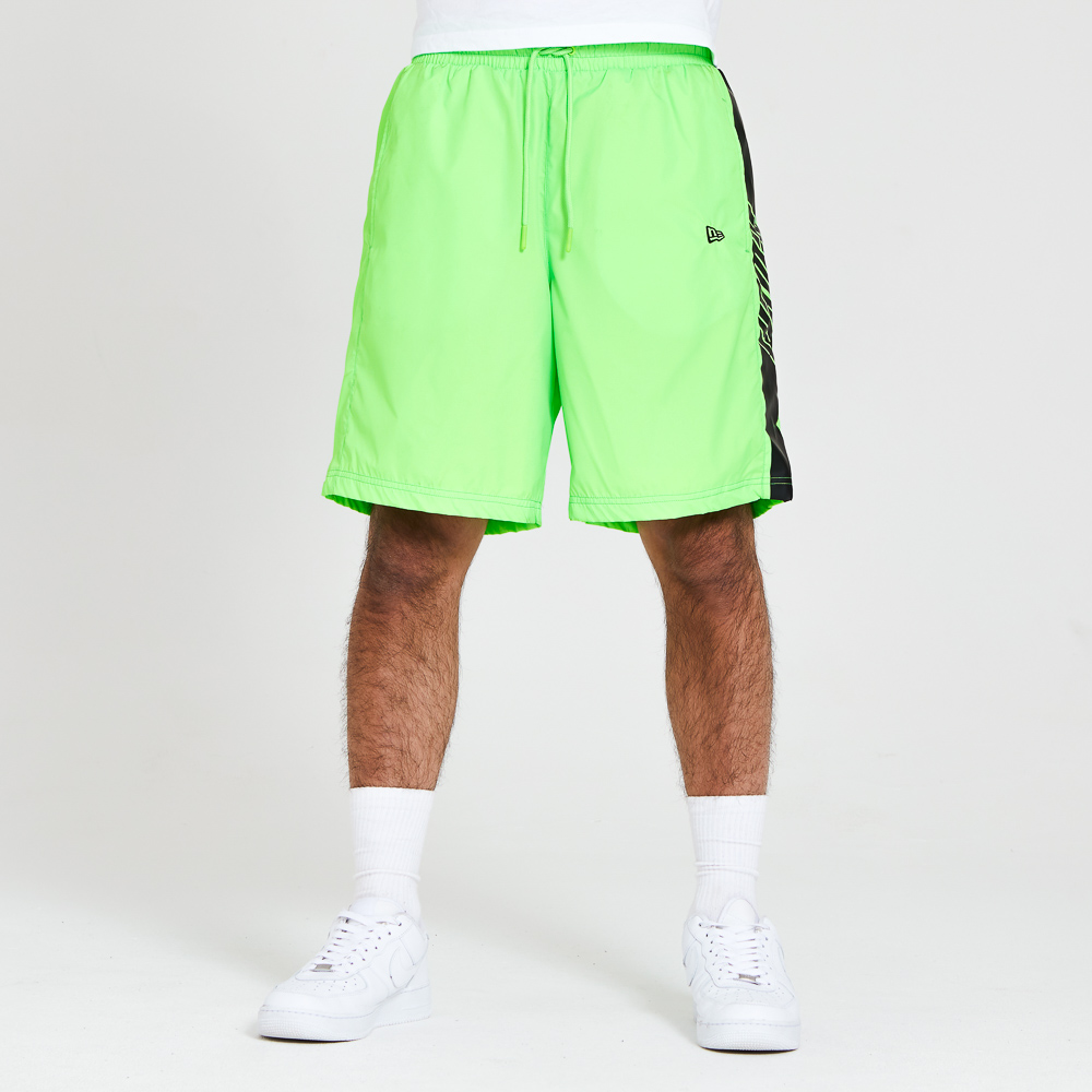 New Era Panelled Neon Green Shorts